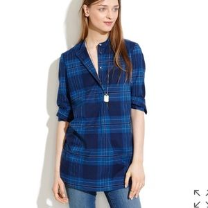 • Madewell • Wellspring Tunic Popover Plaid XS